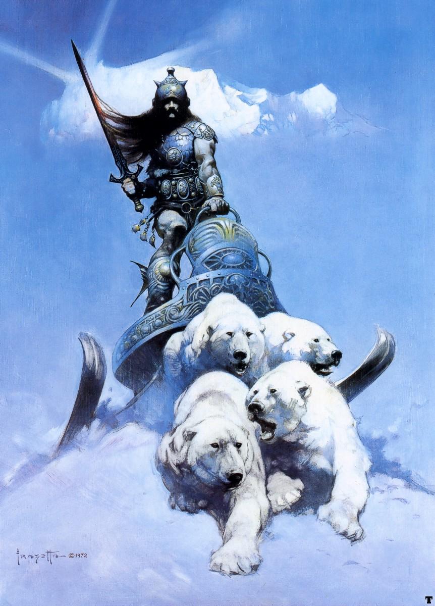 FrankFrazetta The Silver Warrior 1972 Frank Frazetta   Fantasy Artist   The Art History Archive