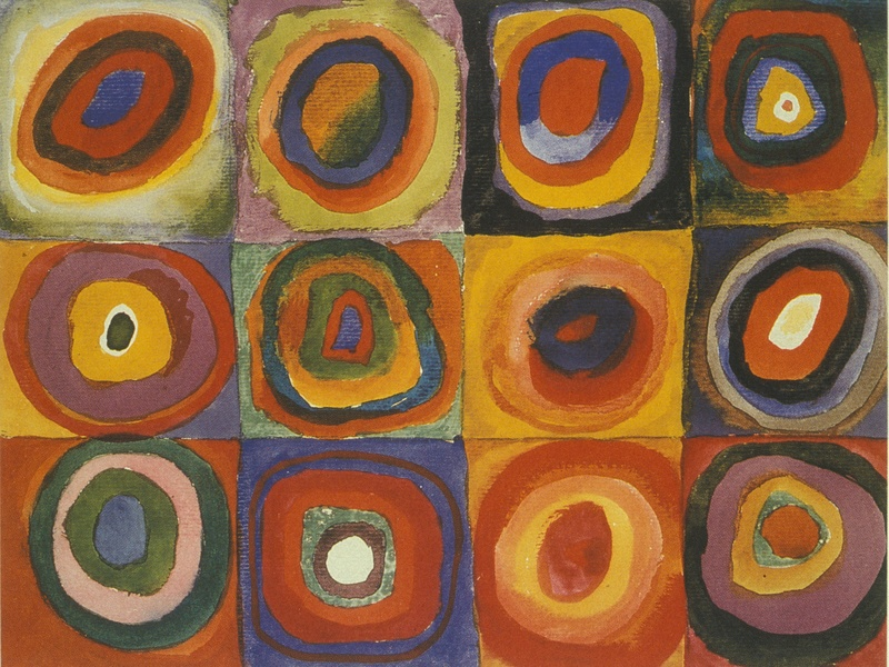 Wassily Kandinsky Squares with Concentric Circles 1913