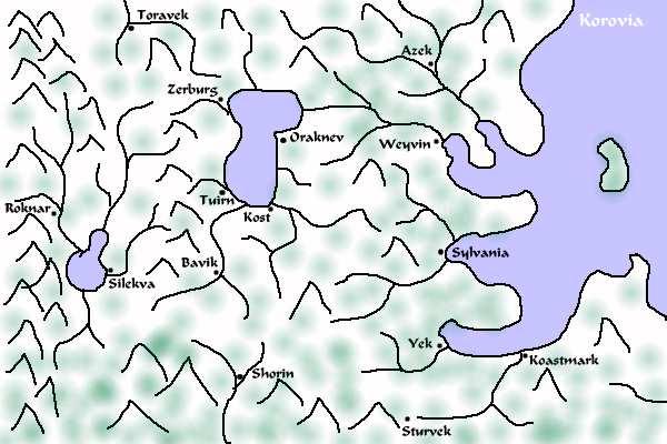 Map of Korovia