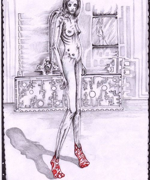 redshoes/she never danced again : 2001, click to see larger version.
