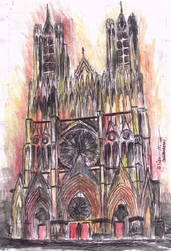 The Reims Cathedral : 2005, click to see larger version.